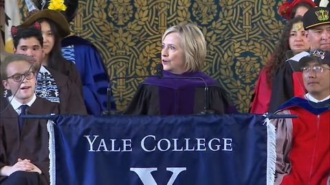 Hillary Clinton Trolls Trump With Russian Hat During Yale Commencement Speech