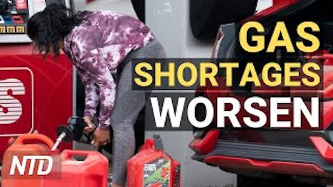 Gas Shortage Worsens; Inflation Jumps to 4.2%, a 13-Yr High; Dow Plunges 680 Points | NTD Business