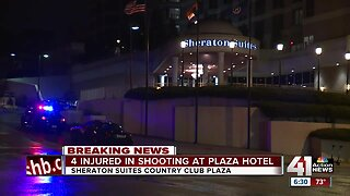 4 Teens shot in Country Club Plaza hotel