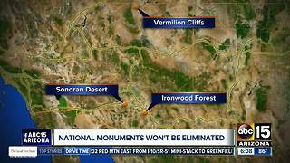 Zinke won't eliminate any national monuments - Video