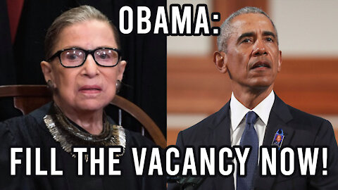 Obama Says Replace Ruth Bader Ginsburg | 4 Prophetic Signs for #45 Donald Trump
