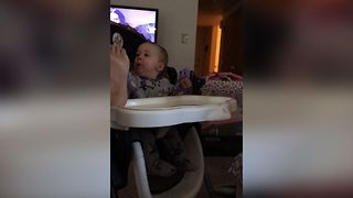 Baby Can't Handle Dad's Stinky Feet - Video