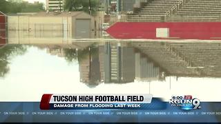 Tucson High Football Field flooded again