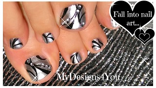 Mirror polish toenail art design