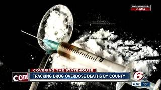 Lawmaker says tracking drug overdose deaths by county could help them fight the epidemic in Indiana - Video