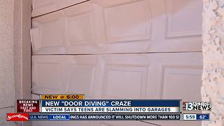 'Door Diving' trend leaves garage doors smashed in, homeowners with pricey repair - Video