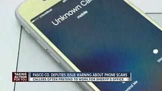 Pasco Co. deputies issue warning of phone scammers pretending to be them