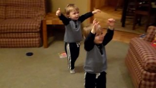 """Twin Toddler Boys Ballet Dancing"""