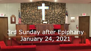 3rd Sunday after Epiphany Worship January 24, 2021