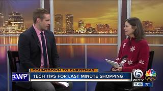 Tech tips for last-minute shopping