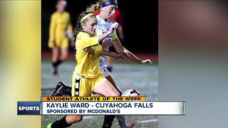 Student Athlete of the Week:  Kaylie Ward - Video