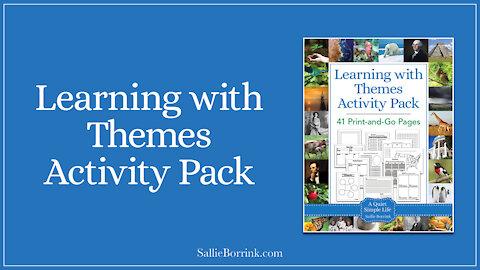 Unit Study and Learning With Themes Printable Activity Pack