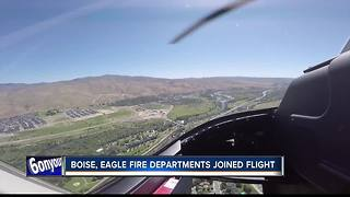 Aerial tour helps Boise, Eagle firefighters plan for wildfire season - Video
