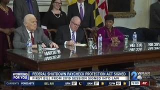 Maryland Governor Larry Hogan holds bill signing ceremony
