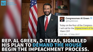 Texas Democrat Taking Fight To Impeach Trump To House Floor - Video