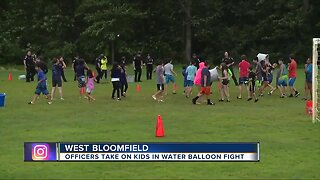 West Bloomfield police host water balloon fight for kids