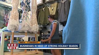 Beach businesses desperate for a strong holiday shopping season