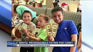 Dental professionals buying back candy - Video