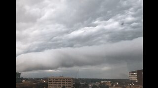 Timelapse Shows Storm Clouds Rolling Over West Texas Courthouse