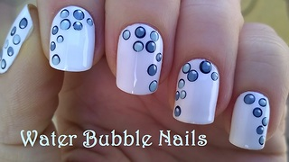Water Bubble Nail Art Design - Video