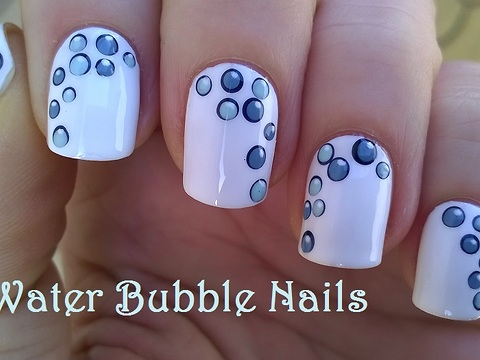 Water bubble nail art design prinsesfo Image collections