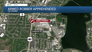 Suspect in armed robbery apprehended
