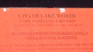 City of Lake Worth red tagging program aims to clean up streets - Video