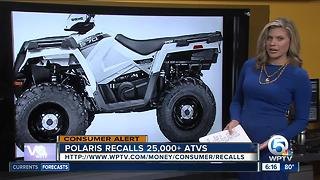 Polaris recalls 25,000 ATVs for fire hazard - Video