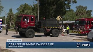 Running vehicles are a fire hazard during dry conditions
