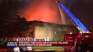 Massive apartment fire leaves Westland families looking for a new home