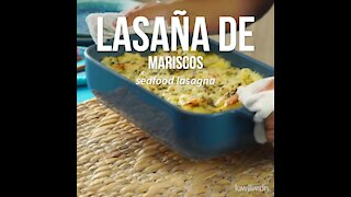 Seafood Lasagna with White Sauce