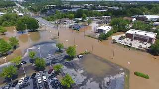Drone Footage Shows Scale of Raleigh Flooding - Video