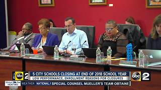 Baltimore City School Board held final vote on school closures, 5 out of 6 schools to close