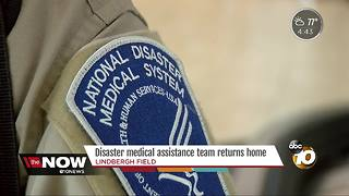 Disaster medical assistance team returns to San Diego - Video