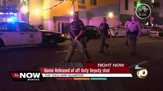 Off-duty deputy shot in the Gaslamp - Video
