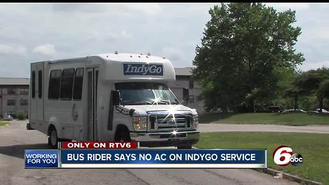 Riders complain about air conditioning problems on IndyGo buses