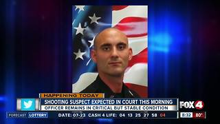 Man accused of shooting police officer is to make first court appearance - Video
