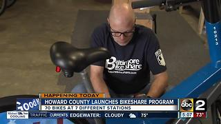 Bikeshare program launches in Howard County - Video