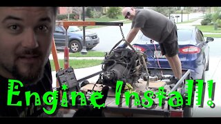 PART 4 - 1952 Chevy 3100 - Engine Install!