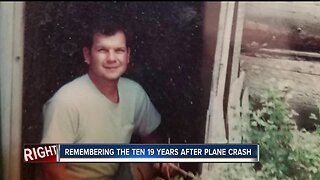 Remembering the ten 19 years after plane crash
