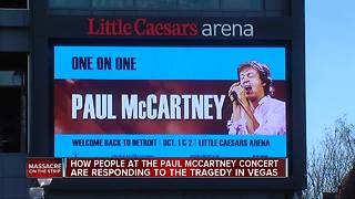 Las Vegas massacre on mind of fans at Paul McCartney's Little Caesars Arena show - Video