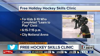 Free hockey skills clinic for kids - Video