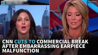 CNN Cuts To Commercial Break After Embarrassing Earpiece Malfunction - Video