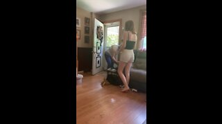 Spider box scare prank with slo mo