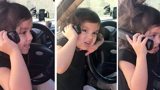 Cheeky Toddler Demands Chicken Nuggets From Debt Collector - Video