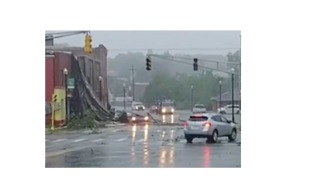 Buildings, Trees, Power Lines Damaged After Tornado-Warned Storm in Webster - Video