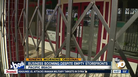 Business in Pacific Beach booming despite empty storefronts along Garnet Ave.