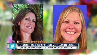 Students & staff grieve tragic loss, two staff members killed in murder suicide - Video