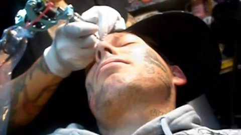 Human billboard – Dad of five who earnt £17K for x-rated tats starts laser remove.
