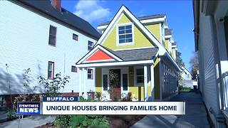 Tiny houses bringing families home - Video